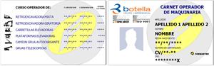 Imagen carnet o certificado